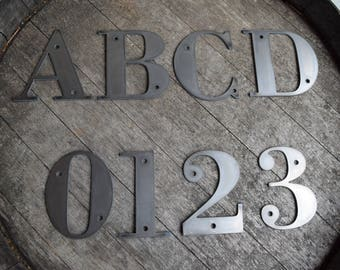 """4-1/2"""" Tall Metal Letters and Numbers 