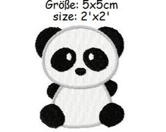 Embroidery Design Panda 2'x2' - DIGITAL DOWNLOAD PRODUCT