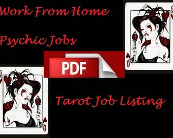 Work from Home as a psychic, How to Be Successful Working  From Home Psychic doing Readings, Tarot Job Listing, Make Money at home