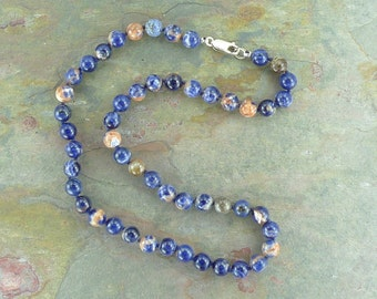RED SODALITE Chakra Necklace All Natural Semi-Precious Stones Healing Metaphysical