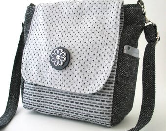 purse backpack converts to crossbody messenger bag, shoulder bag, sling bag, grey handbag, zipper bag, fit Ipad, vegan bag