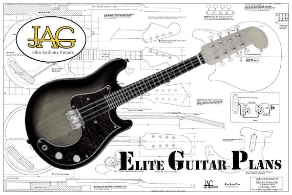 E-Gitarre Plan Fender Stil Mandocaster DIY-Projekt oder