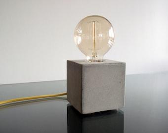 Concrete table Lamp, Concrete desk lamp, Edison lamp, Modern lamp, Industrial retro lamp, Table lamp, Desk lamp, Concrete lamp