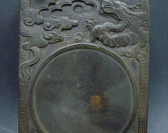 Fine Carving Old Chinese Ink Stone InkSlab Marked ZuoFengYiCheng