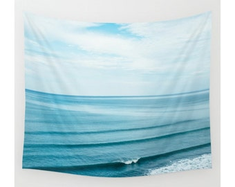 Wall Tapestry, Beach Tapestry, Wall Hanging, Beach Ocean Waves Paradise, Coastal Wall Decor,Photo Wall Art,Modern Tapestry,Home Decor