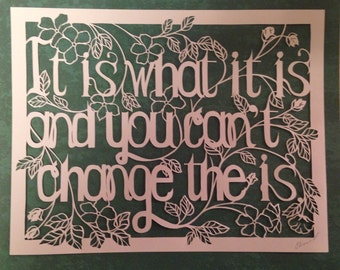 Custom paper cut-quote..