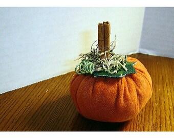 Suede Pumpkin/Small Size/Holiday Decor/ Handmade*