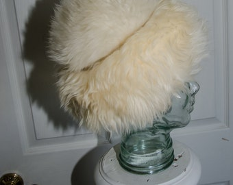 Vintage Midcentury Italian Lamb Fur Hat