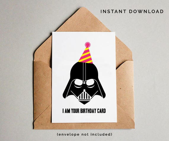 Current image for printable star wars birthday card