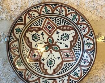 Moroccan Wall Art Unique Design Handpainted \u0026 Handmade Decorative Plate & Moroccan Decorative Wall Plates u0026 Moroccan Wall Decor Peaceful Ideas ...