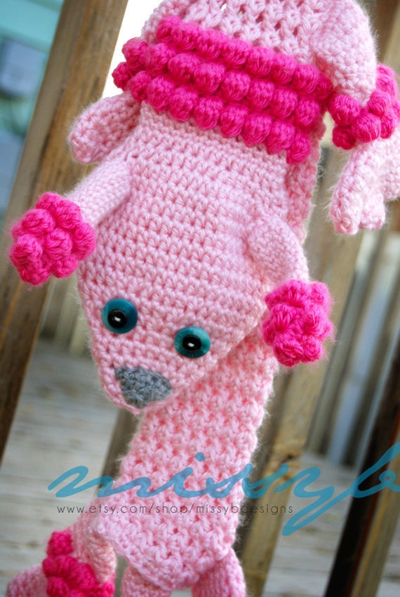 Fun Crochet Scarf Pattern Lilleth the Poodle Scarf PDF