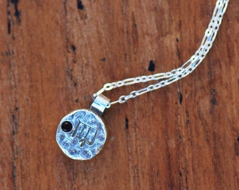 Element Virgo Zodiac Necklace- Sterling Silver