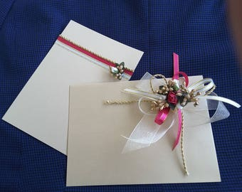 luxury handmade envelope and greetings card for cash, checks, vouchers and special wishes