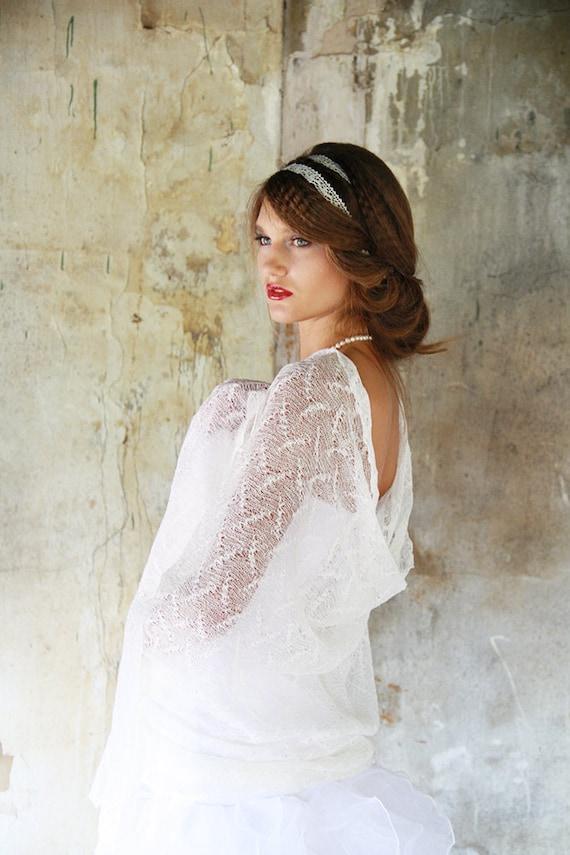 Bridal Lace scarf Wedding shawl Linen Scarf bridal cover up