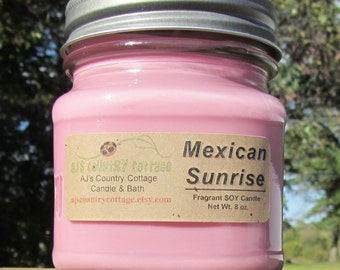MEXICAN SUNRISE SOY Candle - Cocoa Candles - Chocolate Candles - Soy Candles - Spring Candles