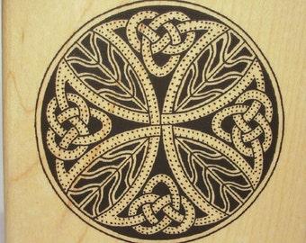 Scottish Highlander Targe Shield Rubber Stamp SCA #113