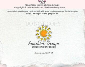 1257-17  Sunshine Logo, sun logo, business logo, sunshine business, beautiful sunshine,  business branding, logo design, watermark logo