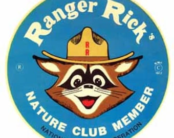 Vintage Style Ranger Rick Nature Club Member National Wildlife Federation Travel Decal sticker