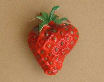 Vintage Strawberry Pin - Austria