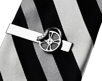 Movie Film Reel Tie Clip