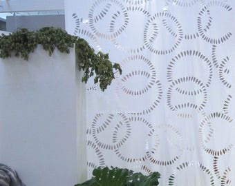 Stock sale% jolly cut extravagant laser cut fabric in white by Nya Nordiska