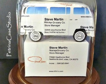 Business cards etsy vw bus business card sculpture 1352 made in usa colourmoves