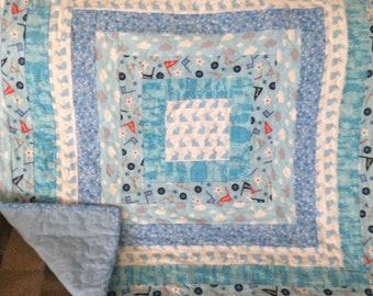 Quilted Baby Boy Blanket