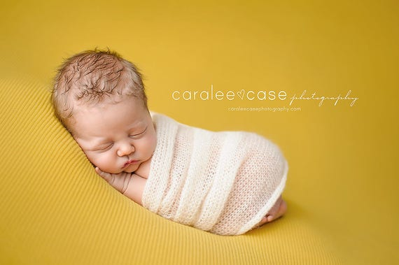 Newborn Mohair Wrap Knit Stretch Baby Wrap Newborn Photography