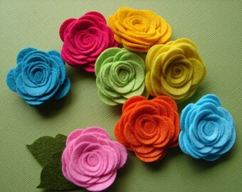 Wool Felt Flowers - Tropical Large Posies - The Original Wool Felt Posies