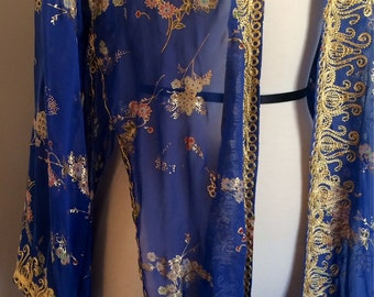 Vintage Sheer Robe - Kimono Inspired