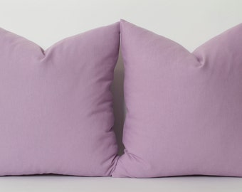 Light Purple Linen Pillow Cover - ALL SIZE Accent Pillows Light Purple Couch Sofa Toss Pillow Decorative Throw Pillow Cover Bed Pillow Cases