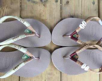 MOTHERS DAY GIFT, Wedding Sandals, Wedding Flip Flops, Wedding Flats, Beach Sandals, Beach Flip Flops, Unique Flip Flops, Womens Sandals