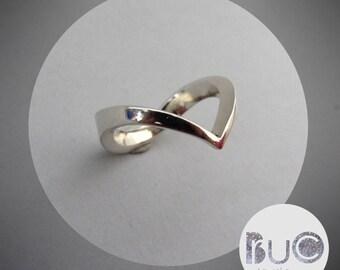 Silver Arrow Ring Form V by Brucojewels