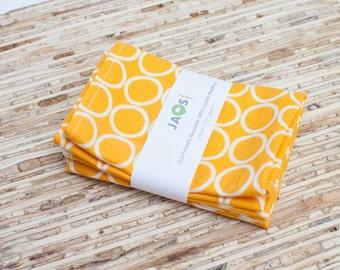 Small Cloth Napkins - Set of 4 - (N722s) - Marigold Circle Modern Reusable Fabric Napkins
