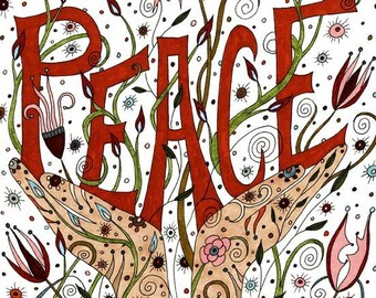 Peace Art Print, Affirmation, Positive, Peace