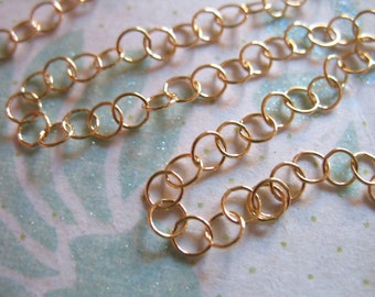Gold Fill ROLO Chain, 3.5x3.5 mm, great Extender Chain, 14k gold filled, wholesale unfinished mmgf mgf9 solo