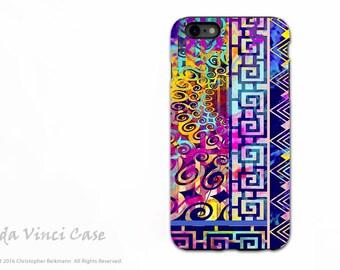 Colorful iPhone 6s Plus Case - Artistic Abstract iPhone case - Nouveau Boom - Artist Dual Layer iPhone 6 Plus Tough Case by da Vinci Case