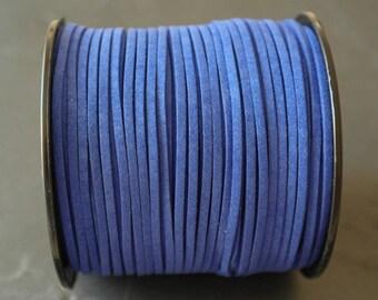 Ultramarine Blue Suede cord 3mm sold per 1 meter