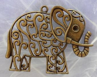 large bronze elephant pendant