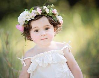 Childs Boho Vintage Flower Crown