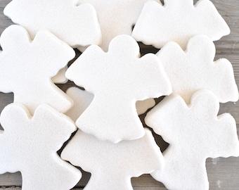 Small Angel DIY Salt Dough Supplies Ornaments Set of 10