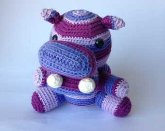 Crochet animal Hippie Hippo