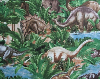 Timeless Treasures Dinosaur Fabric, yards