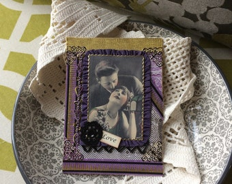 Love Card - Wedding Card - Engagement Card - Anniversary Card - Vintage Couple Card