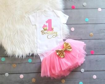 1st Birthday Cupcake Outfit Birthday Cake Smash Outfit Girl Smash Cake Outfit Girl Baby Girl Cake Smash Outfit Cupcake Birthday Outfit