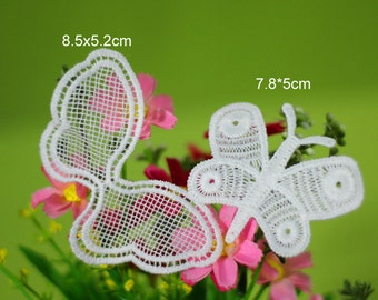 20pcs ivory clothes dress butterflies pocket embroidered appliques patches brtf7 free ship