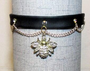 Gold Bumble Bee Dress Collar