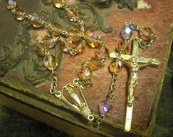 1960 Peach Rosary
