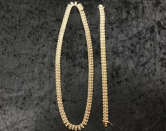 Ross Simon Matching Necklace & Tennis Bracelet - Gold, Sterling Silver
