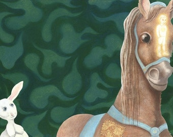 """Horse Art Print, limited edition - """"The Skin Horse"""""""